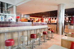 Burger King-restaurantbinnenland Royalty-vrije Stock Afbeeldingen