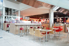 Burger King-restaurantbinnenland Stock Afbeelding