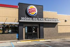 Lafayette - Circa September 2017: Burger King Retail Fast Food Location. Every day, over 11 million guests visit Burger King VI Royalty Free Stock Photo