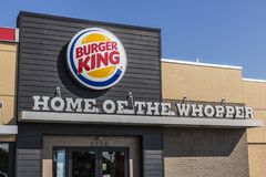Lafayette - Circa September 2017: Burger King Retail Fast Food Location. Every day, over 11 million guests visit Burger King V Stock Photography