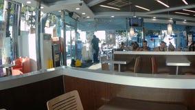 Burger King in salou stock footage