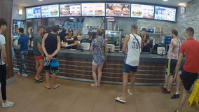 Burger King in salou stock footage