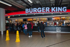 Burger King at Schiphol Airport Stock Images