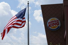 Burger King sign Royalty Free Stock Photo