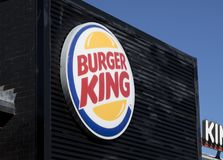 Burger King sign and logo royalty free stock images