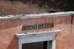 Burger King a Venezia, Italia fotografia stock