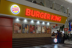 Burger King. A view from Emporium Shopping Mall, Lahore, Pakistan Stock Image