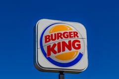 Burger- Kingzeichen Stockfoto
