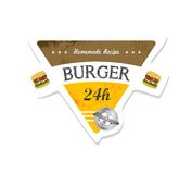 Burger label Royalty Free Stock Photo