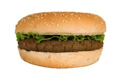 Burger with Lettuce Royalty Free Stock Photos