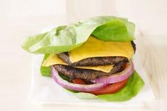 Burger lettuce wrap close up Stock Photos