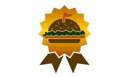 Burger Logo Design Template国王 免版税库存图片