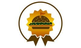 Burger Logo Design Template国王 库存图片