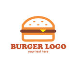 Burger Logo Text Stockfotos