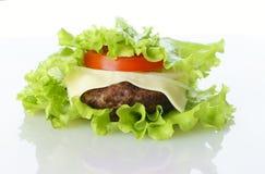 Burger lokalisiert stockbilder