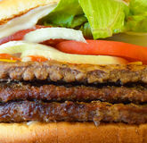 Burger macro shot Royalty Free Stock Images