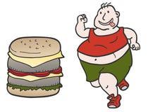 Burger man. Funny draw of burger man Royalty Free Stock Image
