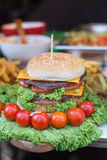 Burger on the market Royalty Free Stock Images