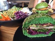 Burger Matcha Στοκ Εικόνες
