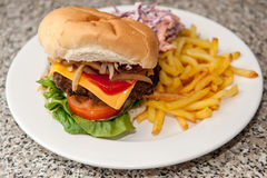 Burger meal Stock Images