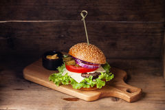 Burger with meat Royalty Free Stock Photo