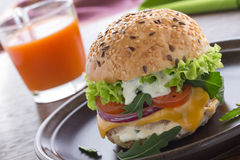 Burger with meat Stock Image