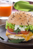 Burger with meat Royalty Free Stock Photography