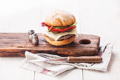 Burger with meat Stock Photo