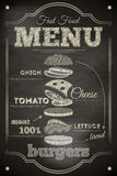 Burger-Menü Stockfotografie