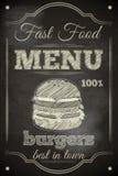 Burger-Menü Stockfotos