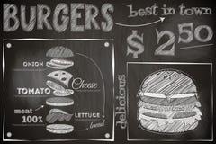 Burger Menu Royalty Free Stock Photo