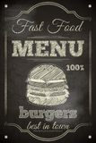 Burger Menu royalty free illustration