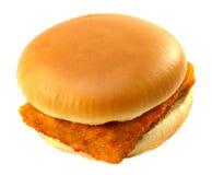 Burger mit Fischen Lizenzfreies Stockfoto
