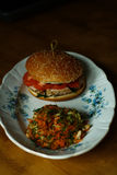 Burger mit Huhn Lizenzfreies Stockbild