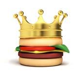 Burger mit Krone Stockbilder