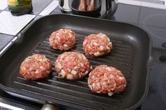 Burger In A PAN I Royalty Free Stock Photo