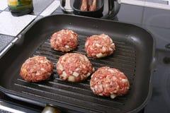 Burger In A PAN I Royalty Free Stock Photo