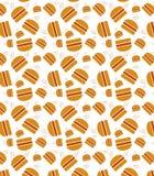 Burger pattern Royalty Free Stock Images