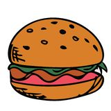 Burger picture design stock illustration