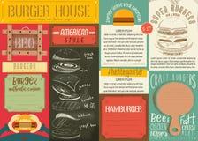 Burger Placemat Stock Photo