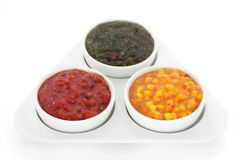 Burger Relish Selection Stock Image