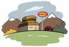 Burger Restaurant Stock Photography