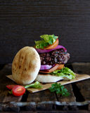 Burger with salad Royalty Free Stock Photo