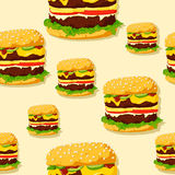 Burger seamless texture. Stock Image