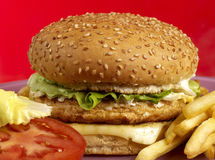Burger series Stock Images