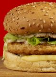 Burger series Royalty Free Stock Images
