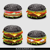 Burger set 8 Stock Image