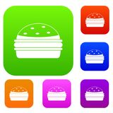 Burger set color collection Stock Images