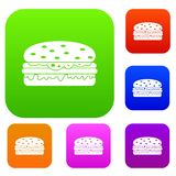 Burger set color collection Stock Photo