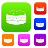 Burger set color collection Royalty Free Stock Photo